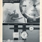 Vintage 1965 Atlantic Seahunter Watch Advert Switzerland Vintage 1960s Swiss Print Ad