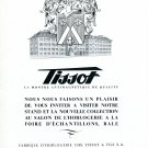 Vintage 1943 Tissot Watch Company Switzerland 1940s Swiss Print Ad Suisse Suiza