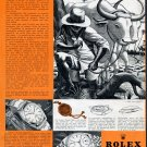 Vintage 1954 Rolex Oyster Perpetual Watch Advert A Rapporter Contre Recompense Swiss Ad