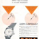 Vintage 1954 Doxa Watch Company Le Locle Switzerland 1950s Swiss Print Ad Suisse