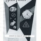 Vintage 1954 Buser Freres Watch Company Switzerland 1950s Swiss Print Ad Suisse