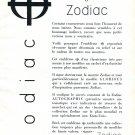 Vintage 1954 Zodiac Watch Company Switzerland 1950s Swiss Print Ad Zodiac Autographic Advert