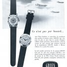Vintage 1954 Gruen Watch Company TWA Trans World Airlines Aviation 1950s Swiss Print Ad