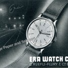 1943 Era Watch Company C Ruefli-Flury & Co Switzerland Vintage 1940s Swiss Ad
