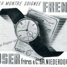 1943 Frenca Watch Company Buser Freres & Co SA Switzerland Swiss Print Ad Suisse