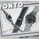 1943 Pronto Watch Company Switzerland Vintage 1940s Swiss Print Ad Advert Suisse