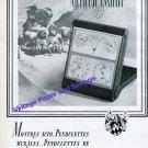 1945 Imhof Clock Company Switzerland Vintage 1940s Swiss Ad Suisse Arthur Imhof