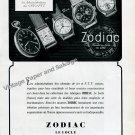 1945 Zodiac Watch Company Switzerland CFF PTT Vintage Swiss Print Ad Suisse