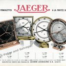 Vintage 1942 Jaeger-LeCoultre Clock Co Switzerland Original 1940s Swiss Ad Advert Suisse