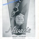 Vintage 1942 Nivada Watch Company Grenchen Switzerland 1940s Swiss Advert Suisse