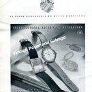 Vintage 1943 IWC International Watch Company E Homberger Rauschenbach Swiss Print Ad Advert 1940s