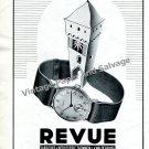 Vintage 1943 Revue Watch Co Fabriques d'Horlogerie Thomman S.A. Switzerland 1940s Swiss Print Ad