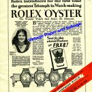 Vintage 1943 Rolex Oyster Waterproof Watch Advert Birthday Anniversary Announcement Swiss Print Ad