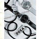 Vintage 1943 Doxa Watch Company Switzerland Original 1940s Swiss Print Ad Suisse Horology