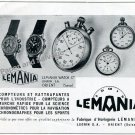 Vintage 1943 Lemania Watch Company Lugrin SA Switzerland 1940s Swiss Print Ad Advert Suisse