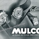 Vintage 1943 Mulco Watch Company Switzerland 1940s Swiss Print Ad Advert Suisse CH