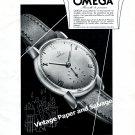 Vintage 1943 Omega Watch Company Switzerland Original 1940s Swiss Print Ad Advert Suisse CH