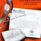 1943 Rolex Watch Company Switzerland Montres Rolex SA Vintage 1940s Swiss Print Ad Publicite