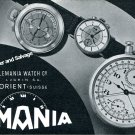 Vintage 1942 Lemania Watch Company Lugrin SA Switzerland 1940s Swiss Print Ad Suisse
