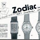 Vintage 1942 Zodiac Watch Company Switzerland 1940s Swiss Print Ad Advert Suisse