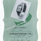 Vintage 1945 Girard-Perregaux Watch Company Switzerland 1940s Swiss Print Ad Suisse
