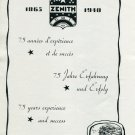 1940 Zenith Watch Company 75th Anniversary 1865-1940 Swiss Print Ad Advert Suisse Switzerland