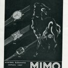 Vintage 1940 Mimo Watch Company Switzerland Girard-Perregaux Swiss Print Ad Advert Suisse CH