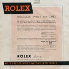 Vintage 1940 Rolex Watch Company Most Precise Wrist Watches in the World Swiss Print Ad Advert