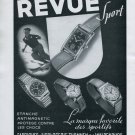 Vintage 1940 Revue Sport Watch Advert Thommen SA Switzerland Swiss Print Ad Suisse CH