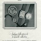 Vintage 1940 Vacheron & Constantin Watch Company Switzerland Swiss Print Ad Suisse