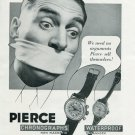 Vintage 1940 Pierce Watch Company Pierce Chronographs The 4 in 1 Watch Swiss Print Ad Advert