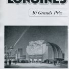 1940 Longines-Wittnauer Watch Company 10 Grands Prix Vintage Swiss Print Ad Suisse CH