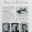 1936 LeCoultre Watch Clock Co Jacques-David Le Coultre Interview 1930s Swiss Magazine Article