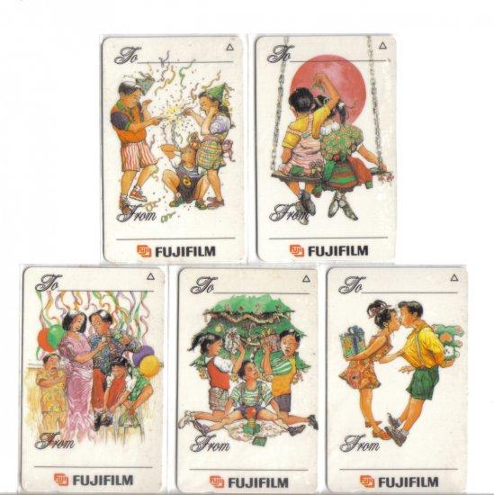 Festive season (mint) Phonecard Limited Edition. Set of 5