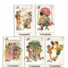 Festive season (mint) Phonecard Limited Edition. Set of 5