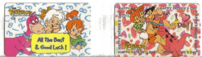 Flinstone (mint) Phonecard Limited Edition. Set of 2