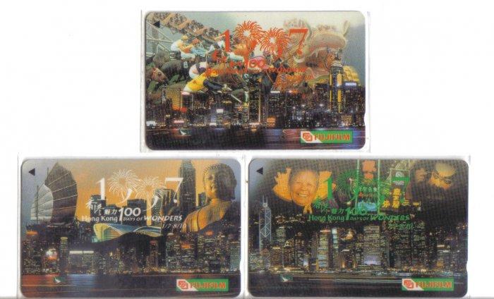 Hong kong hanover Phonecard (mint) set of 3. Limited Edition