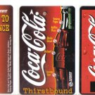 coke (mint) Transport card - Limited Edition. Set of 3