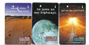 Cyberway (mint) Transport card - Limited Edition. Set of 3