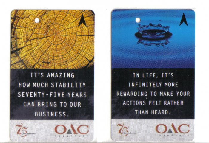 OAC (mint) Transport card- Limited edition. Set of 2