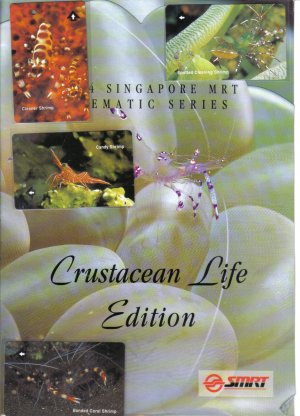 Crustacean Life (mint) Transport card- Limited edition. Set of 4