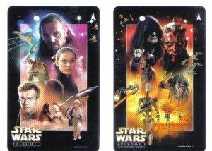 Star Wars Episode 1 (mint) Transport Card - Limited Edition Set of 2
