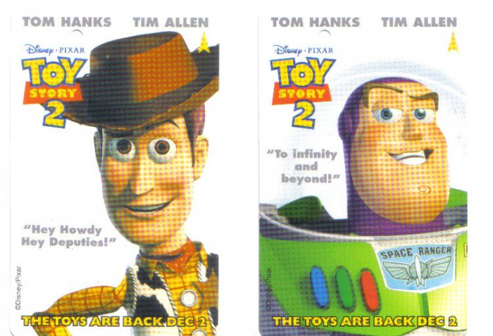 Toy Story 2 (mint) Transport Card - Limited Edition Set of 2