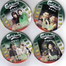 Magic kitchen coaster with metal Container (Limited Edition)- Andy Lau, Sammi etc