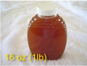 16 oz (1 pound) 100% Pure Alfalfa Honey