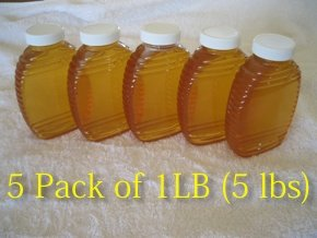 5 Pack of 1 lb 100% Pure Alfalfa Honey