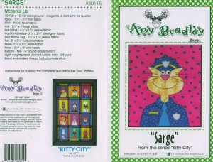 AMY BRADLEY Designs Kitty City Sarge the police dog Quilt Block Pattern only fs