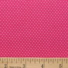 one yard Pin Dot Polka Dots 45&quot; 100% Cotton Quilt Fabric Flamingo pink free ship