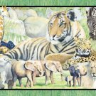 WILDLIFE PRINTS FABRIC PANEL 45 INCH BY 36 INCH Animal Zoological WALL HANGING