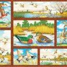WILDLIFE PRINTS FABRIC PANEL 45 INCH BY 36 INCH Fly Away Home Ducks WALL HANGING